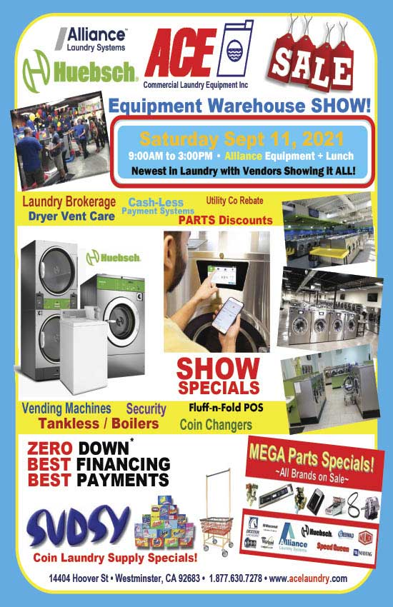 Ace Commercial Laundry Equipment Warehouse Show 2021